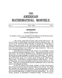The American Mathematical Monthly : 1894... Volume Vol. 1 by Chapman, scott