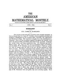 The American Mathematical Monthly : 1894... Volume Vol. 1 by Chapman,scott
