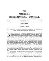 The American Mathematical Monthly : 1895... Volume Vol. 2 by Chapman, scott