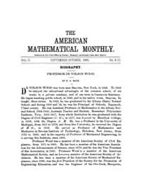 The American Mathematical Monthly : 1895... Volume Vol. 2 by Chapman,scott