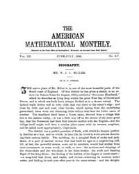 The American Mathematical Monthly : 1896... Volume Vol. 3 by Chapman,scott