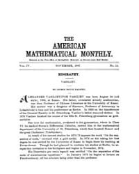 The American Mathematical Monthly : 1897... Volume Vol. 4 by Chapman, scott