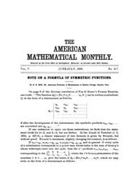 The American Mathematical Monthly : 1898... Volume Vol. 5 by Chapman, scott