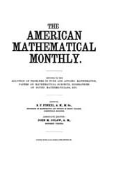 The American Mathematical Monthly : 1899... Volume Vol. 6 by Chapman,scott
