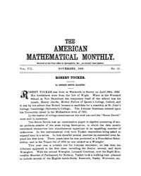 The American Mathematical Monthly : 1900... Volume Vol. 7 by Chapman,scott