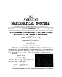 The American Mathematical Monthly : 1900... Volume Vol. 7 by Chapman, scott