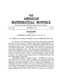 The American Mathematical Monthly : 1901... Volume Vol. 8 by Chapman,scott