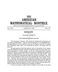 The American Mathematical Monthly : 1901... Volume Vol. 8 by Chapman, scott