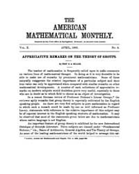 The American Mathematical Monthly : 1903... Volume Vol. 10 by Chapman,scott
