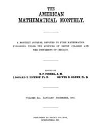 The American Mathematical Monthly : 1905... Volume Vol. 12 by Chapman, scott