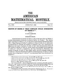 The American Mathematical Monthly : 1906... Volume Vol. 13 by Chapman,scott
