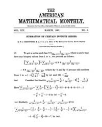 The American Mathematical Monthly : 1907... Volume Vol. 14 by Chapman,scott