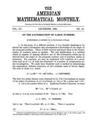 The American Mathematical Monthly : 1908... Volume Vol. 15 by Chapman, scott