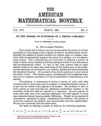 The American Mathematical Monthly : 1909... Volume Vol. 16 by Chapman,scott