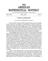 The American Mathematical Monthly : 1910... Volume Vol. 17 by Chapman,scott
