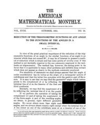 The American Mathematical Monthly : 1911... Volume Vol. 18 by Chapman,scott