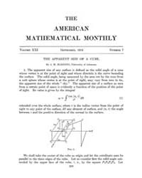 The American Mathematical Monthly : 1914... Volume Vol. 21 by Chapman, scott