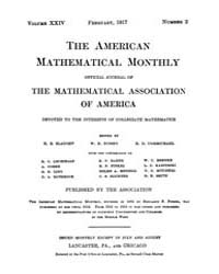 The American Mathematical Monthly : 1917... Volume Vol. 24 by Chapman,scott