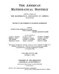 The American Mathematical Monthly : 1921... Volume Vol. 28 by Chapman,scott