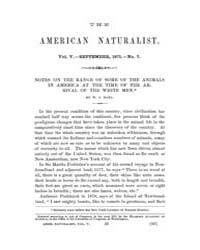 The American Naturalist : 1871 Vol. 5 No... Volume Vol. 5 by McPeek, Mark, A.