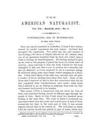 The American Naturalist : 1873 Vol. 7 No... Volume Vol. 7 by McPeek, Mark, A.