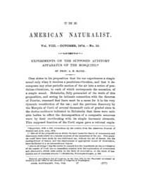The American Naturalist : 1874 Vol. 8 No... Volume Vol. 8 by McPeek, Mark, A.