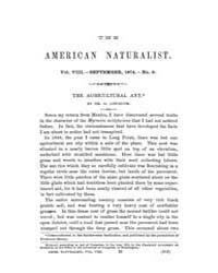 The American Naturalist : 1874 Vol. 8 No... Volume Vol. 8 by McPeek, Mark, A.