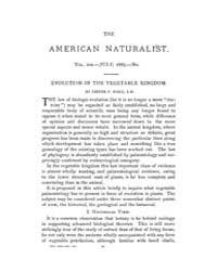 The American Naturalist : 1885 Vol. 19 N... Volume Vol. 19 by McPeek, Mark, A.