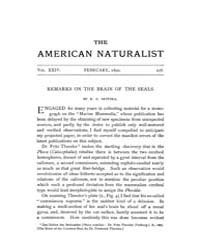 The American Naturalist : 1890 Vol. 24 N... Volume Vol. 24 by McPeek, Mark, A.
