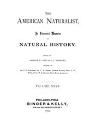 The American Naturalist : 1892 Vol. 26 N... Volume Vol. 26 by McPeek, Mark, A.