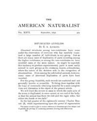 The American Naturalist : 1892 Vol. 26 N... Volume Vol. 26 by McPeek, Mark, A.