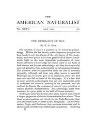 The American Naturalist : 1893 Vol. 27 N... Volume Vol. 27 by McPeek, Mark, A.