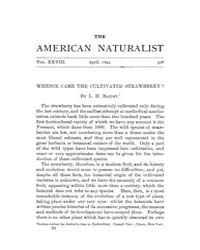 The American Naturalist : 1894 Vol. 28 N... Volume Vol. 28 by McPeek, Mark, A.