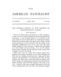The American Naturalist : 1898 Vol. 32 N... Volume Vol. 32 by McPeek, Mark, A.