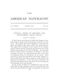 The American Naturalist : 1900 Vol. 34 N... Volume Vol. 34 by McPeek, Mark, A.