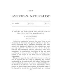 The American Naturalist : 1901 Vol. 35 N... Volume Vol. 35 by McPeek, Mark, A.