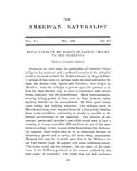 The American Naturalist : 1906 Vol. 40 N... Volume Vol. 40 by McPeek, Mark, A.