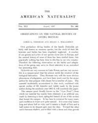 The American Naturalist : 1907 Vol. 41 N... Volume Vol. 41 by McPeek, Mark, A.