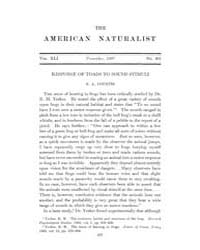 The American Naturalist : 1907 Vol. 41 N... Volume Vol. 41 by McPeek, Mark, A.