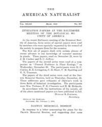The American Naturalist : 1909 Vol. 43 N... Volume Vol. 43 by McPeek, Mark, A.