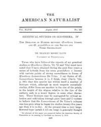 The American Naturalist : 1913 Vol. 47 N... Volume Vol. 47 by McPeek, Mark, A.