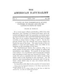 The American Naturalist : 1916 Vol. 50 N... Volume Vol. 50 by McPeek, Mark, A.