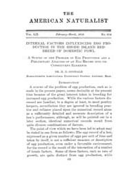 The American Naturalist : 1918 Vol. 52 N... Volume Vol. 52 by McPeek, Mark, A.