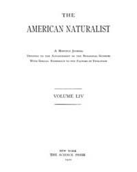 The American Naturalist : 1920 Vol. 54 N... Volume Vol. 54 by McPeek, Mark, A.