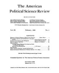 The American Political Science Review : ... Volume Vol. 3 by