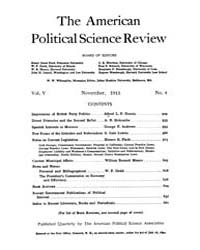 The American Political Science Review : ... Volume Vol. 5 by