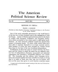 The American Political Science Review : ... Volume Vol. 9 by
