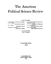 The American Political Science Review : ... Volume Vol. 1 by