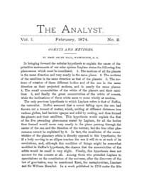 The Analyst : 1874 Vol. 1 No. 2 Feb Volume Vol. 1 by