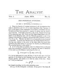 The Analyst : 1874 Vol. 1 No. 6 Jun Volume Vol. 1 by